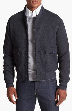 Façonnable 'Double Face' Bomber Jacket available at #Nordstrom