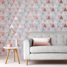 Graham & Brown Rose Gold Reflections Wallpaper, , large