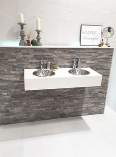 Feature Wall - Thin Stone Cladding - Grey