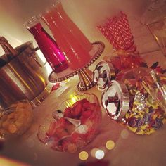 Champagne Bar... Jolly Ranchers, Gummy Bears, Rock Candy, Strawberries, Pineapple, and Champagne... Insty: @LaurynBoBoryn