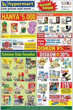 Hypermart: Promo Koran Weekday Periode 7 - 10 Juli 2014 (Pontianak) @hicard_id