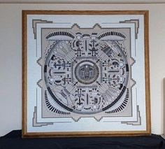 Sammy Myerson, Navajo artist, original sand painting 24 x 24 framed 35 x 35 #Abstract