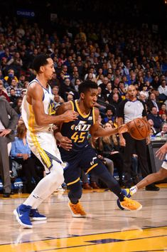ee82c8e21bd Donovan Mitchell of the Utah Jazz handles the ball against the Golden State  Warriors on December