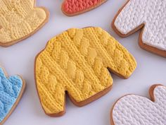 These Knit Cookies Are The Most Adorable Thing You'll See Today -- knitbaked by @IFeelCook #knit #knitting #cookies