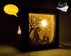 This is a night light inspired by the Tale of the Three Brothers from Harry Potter made with paper cut!! Its the scene when the third brother gives