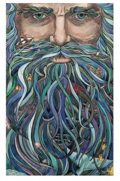 The Old Man Ocean Canvas Print by Julia Coalrye