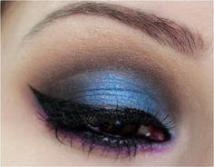 Passo a passo maquiagem azul, roxa e preta - tudo make 06