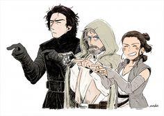Star Wars / Kylo, Luke and Rey