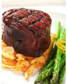 Cut from under the ribs, the filet is the most tender and most expensive cut of steak. It is served rarer than other cuts and often comes with a cream sauce or wine reduction. The filet mignon is very well liked making it a popular choice.