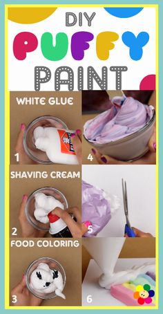 DIY Puffy Paint by BabyFirst - it's fun, easy to make, and oh so colorful! Check out our blog for full instructions at: http://www.babyfirstblog.com/diy-puffy-paint/