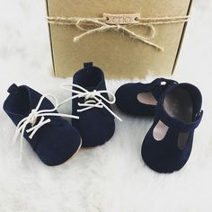Navy blue is such a classy color ;) #criababyshoes