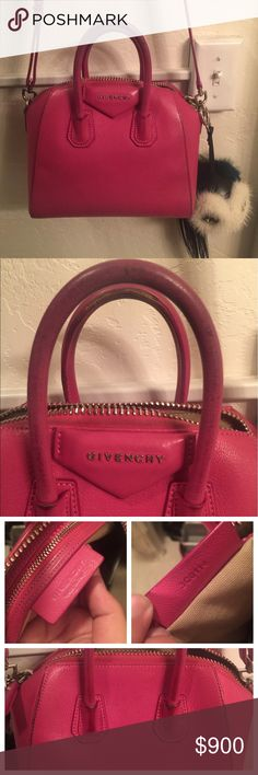 ⭐️PRICED TO SELL⭐️ Givenchy Mini Antigona 💯💯 authentic! Fairly worn in but still in excellent structural shape. 7/10 condition. A professional leather cleaner could make this beauty good as new. Comes with dustbag. Will consider offers and trades! Givenchy Bags