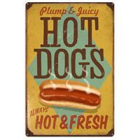 Plump and Juicy Hot Dogs Large Sign