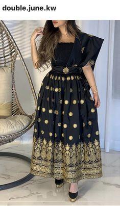 African Wear Dresses, Eid Dresses, Elegant Dresses, Fashion Dresses, Arab Fashion, Indian Fashion, Hijab Fashion Summer, Arabic Dress, Types Of Dresses