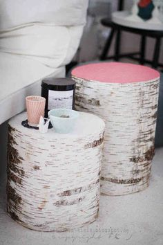 16 Tree Stumps That Will Inspire Your DIY Awakening painting the tops or the sides is such a cool idea!