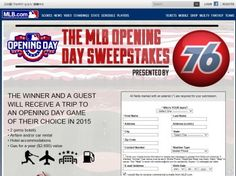 76 MLB Opening Day Sweepstakes – Select States