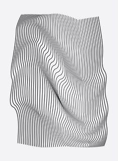 Minimal Curves Mini Art Print by leandropita - Minimal Curves Mini Art Print by Leandro Pita – Without Stand – x - Photoshop Design, Graphic Design Posters, Graphic Design Inspiration, Graphic Tees, Op Art, Conception Photoshop, Typographie Inspiration, Graphisches Design, Line Design