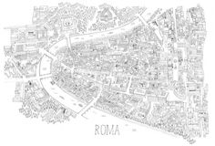 I so want this map of Rome by James Gulliver Hancock