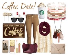 Coffee Date with Color By Amber by eastlyn-megan on Polyvore featuring polyvore, moda, style, H&M, Michael Antonio, Athleta, Casetify, Smoke & Mirrors, Beats by Dr. Dre and AERIN
