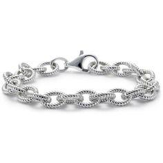 ***Blue Nile Rope Link Bracelet in Sterling Silver