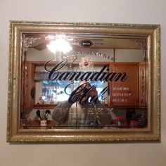 1858 limited Edition Canadian Club Whiskey bar mirror original and authentic, gift for him, man cave gift, home décor by Morethebuckles on Etsy Great price at $150