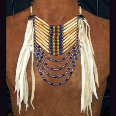 Native American Style Bead and Hairpipe Loop Necklace - June 09 2019 at Native American Regalia, Native American Clothing, Native American Crafts, Native American Beadwork, American Indian Jewelry, Native American Fashion, American Indians, Native Fashion, American Symbols