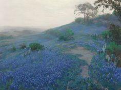 A Customer Favorite: Bluebonnet Field in Early Morning, San Antonio Texas by Julian Onderdonk | Art Posters & Prints