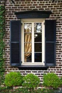 Best house brick exterior colors black shutters Ideas #house