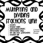 This 40 page pdf contains a wealth of resources to help you teach the common core skills of multiplying whole numbers by fractions, fractions by fractions, dividing whole numbers by fractions, and fractions by fractions. ($5)   # Pinterest++ for iPad #