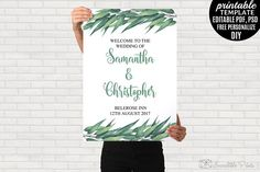 Eucalyptus Wedding Welcome poster by Incredible Prints on @creativemarket