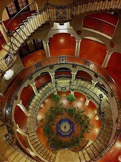 Mission Inn, Riverside, California / architecture / indoor spaces / interior room designs / staircase /