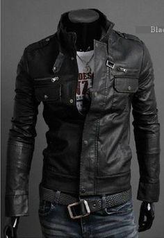 Cool men's leather jacket   My style   Pinterest   I love, Men's ...