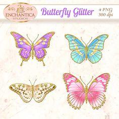 Butterfly Clipart, Butterfly Png, Butterfly Clip Art, Butterfly Printable, Butterfly Glitter, Butterfly Scrapbook, Digital Butterfly, Images