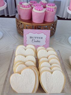 Blush gold and white -️sweet bar -bridal shower - Sweet Bar, Elegant Bridal Shower, Blush And Gold, Candy Buffet, Butter, Cookies, Food, Crack Crackers, Biscuits