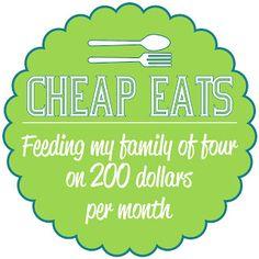 The Craft Patch: Cheap Eats Week 4: Menu Planning - good tips on menu planning