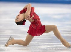 DAY 13:  Gabrielle Daleman of Canada competes during the Figure Skating Ladies' Short Program http://sports.yahoo.com/olympics