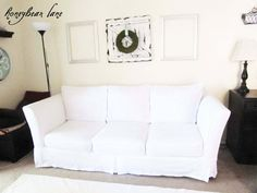 Do you have a couch that's past its prime and a budget too tight for a new one? There are plenty of ways to revive a worn out couch or sofa and one… Diy Couch, Sofa Couch, Loveseat Slipcovers, Couch Set, Couch Cushions, Ikea Couch Covers, Couch Cushion Covers, Chair Covers, Reupholster Furniture