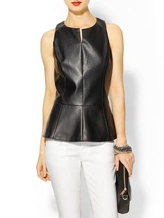 The right way to wear leather in the summer. (Show off your sexy shape!) #fashion #style #peplum