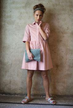 Nectar Clothing - Maren Dress - Rose - The Nest Shop Nest, Shirt Dress, Clothing, Shirts, Shopping, Vintage, Dresses, Style, Fashion