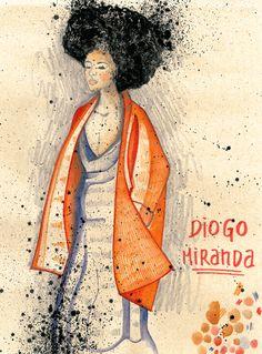 Joana Costa, aluna do Mestrado de Ilustração e Animação do IPCA - desfile Diogo Miranda.