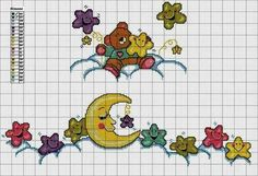 Group of lo schema punto croce Cross Stitch For Kids, Cross Stitch Baby, Cross Stitch Charts, Cross Stitch Designs, Cross Stitch Patterns, Baby Embroidery, Cross Stitch Embroidery, Embroidery Patterns, Baby Motiv