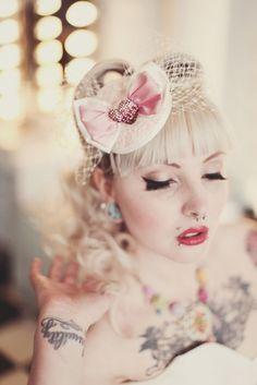 Rockabilly wedding makeup