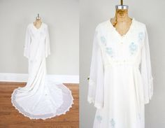 Vintage Wedding Dress // 1950s Wedding Dress // Cathedral Train Bridal Gown // Vintage Wedding Gown