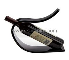 C shape black acrylic display rack for wine bottle WD-039