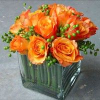 Wedding Decorations, Orange Centerpieces and Flower Arrangements (There are several on this site to look at) Orange Wedding Themes, Orange And Pink Wedding, Best Wedding Colors, Orange Weddings, Wedding Table Flowers, Wedding Decorations, Wedding Ideas, Wedding Greenery, Trendy Wedding
