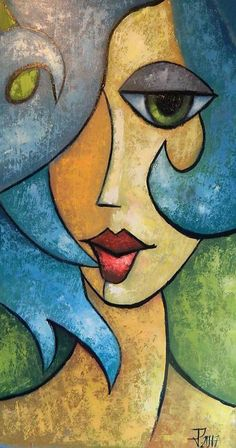 Lady cubiste. Grille pour point de modèle en format PDF de | Etsy