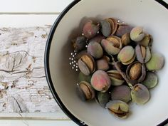 Almonds straight from the tree.