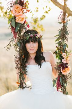 Every bride should have a floral swing!  Perfect for a garden wedding.