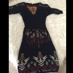Free people knitted dress Nice and warm Pre loved Free People Dresses Long Sleeve