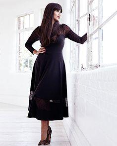 Jameela Jamil Ponte Midi Dress | Simply Be